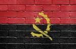 Flag of Angola on brick wall